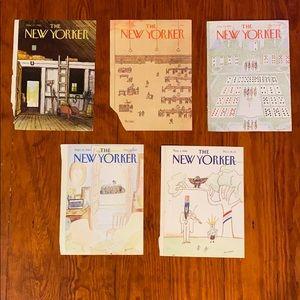 15 New Yorker magazine covers 1980 VNTG Artwork
